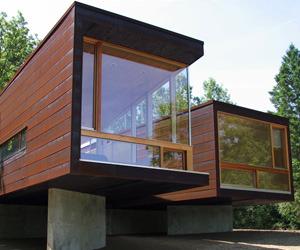 Pre-fab Michigan Cottage in Edition29 ARCHITECTURE for iPad