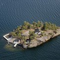 Private Island Dream Home with Rocky Shoreline Views