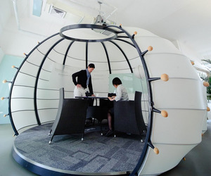 Pumpkin shaped brainstorming room