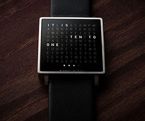 qlocktwo w watch by biegert and funk. Black Bedroom Furniture Sets. Home Design Ideas