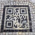 QR Codes Embedded into Sidewalk