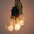 Quad Loop Carbon Filament Light Bulb. 40W. 220-240V