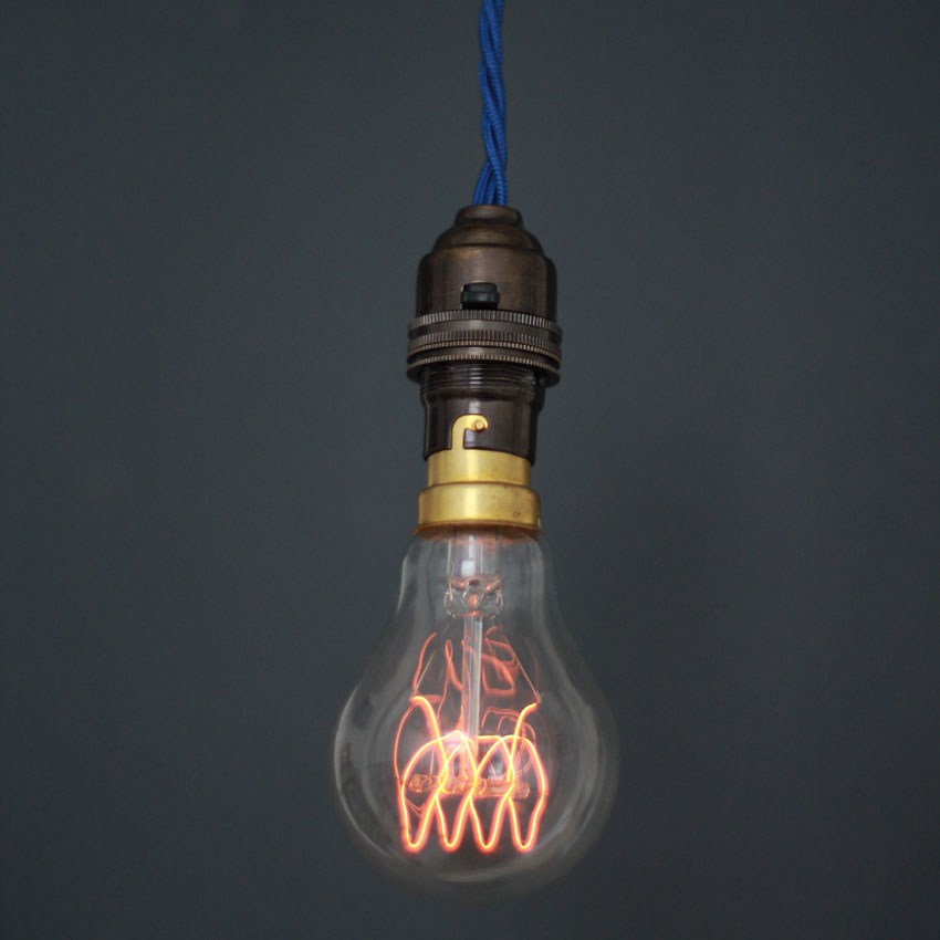 Quad Loop Carbon Filament Light Bulb 60w 230v