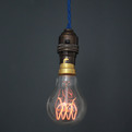 Quad Loop carbon filament light bulb. 60W. 230V.