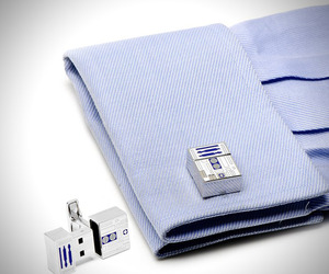 R2D2 USB Flash Drive Cufflinks