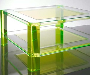 Radiant Acrylic Coffee Tables By Alexandra Von Furstenberg