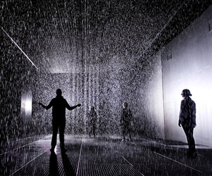 Rain Room installation by Randon International at MoMA