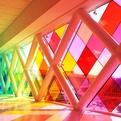 Harmonic Convergence: Rainbow Glass Facade