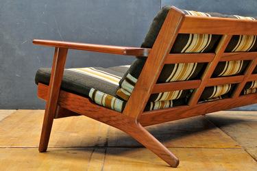 Rare Teak Getama Sofa by Hans J. Wegner