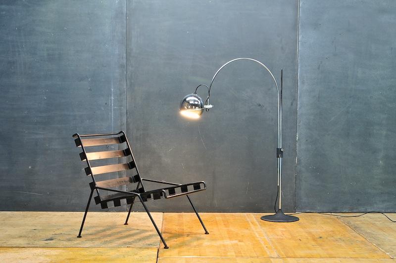 Rare Vintage Dutch Gepo Arc-Eye Floor Lamp
