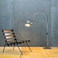 Rare Vintage Dutch Gepo Arc-Eye Floor Lamp