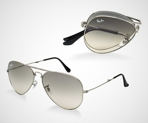 Ray-Ban Folding Aviators Sunglasses
