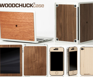 Real Wood Adhesive Cases For Apple Products