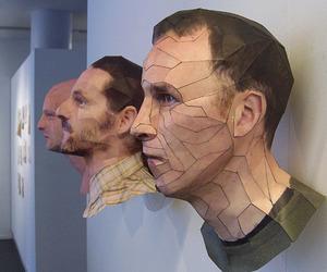 Realistic 3D Paper Portraits by Bert Simons