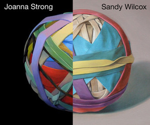 Realistic Rubberband Ball Paintings By 2 Different Artists