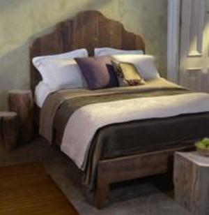 Reclaimed Antique Pine Bed