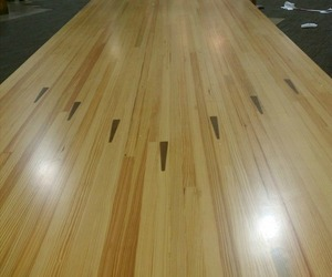 Reclaimed Bowling Alley Wood Tables