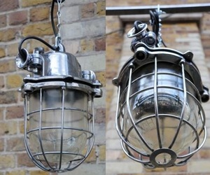 Reclaimed & Mirror Polished Lamp by Elemental