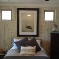Reclaimed Weathered Wood White Bedroom Wall