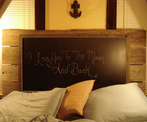 Reclaimed Wood & Chalkboard Headboard