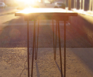 Reclaimed Wood Hairpin Leg Table