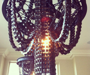 Recycled Bicycle Chain Chandeliers