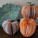 Recycled Books Pumpkin Decorations