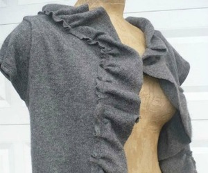 Recycled Cashmere Ruffle Shrug