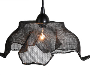 Recycled Copper Mesh Pendant Light by Salvatecture Studio
