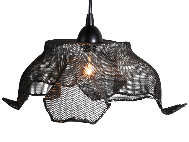 Recycled copper mesh pendant light by salvatecture studio - Recycled light fixtures ...