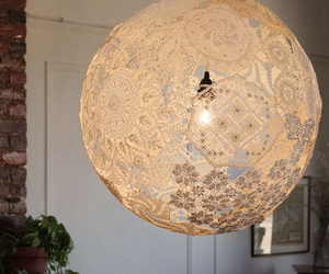 Recycled Doily Lamp by Shannon South