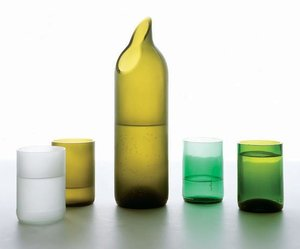Recycled Drinking Glasses by Emma Woffenden and Tord Boontje