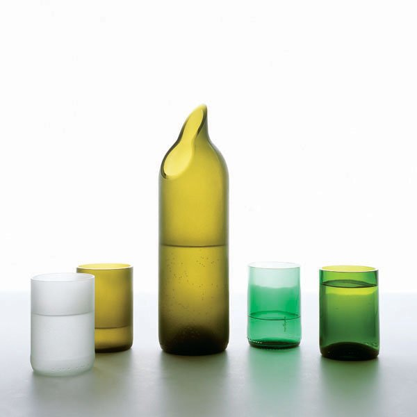Drinking Glasses Made From Recycled Bottles