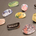 Recycled Eyeglass Brooches