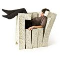 Recycled magazine-friendly chair-sofa system