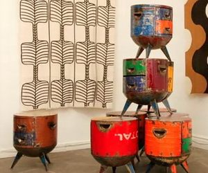 Recycled metal furniture by Hamed Ouattara