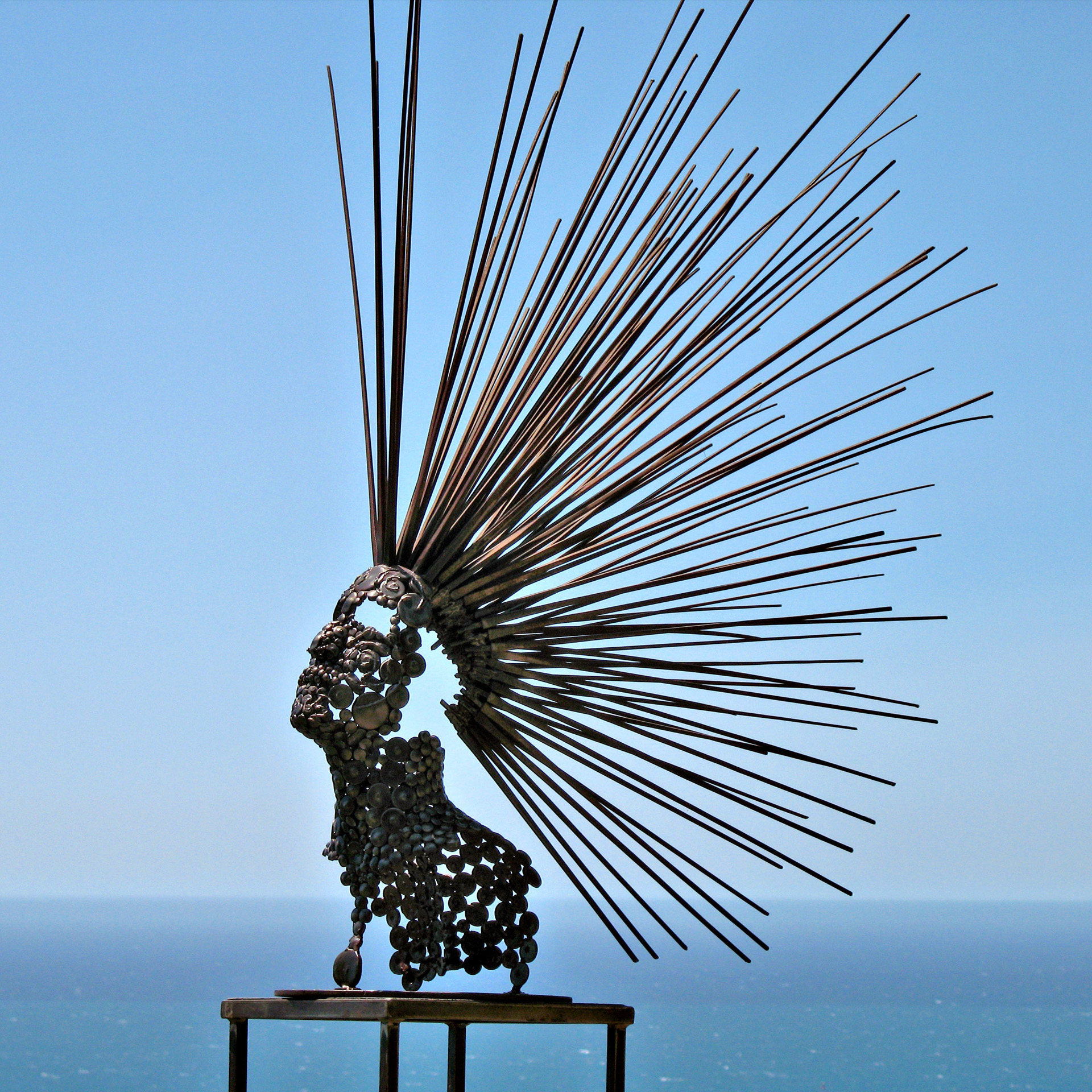 "Recycled Metal Sculpture ""The Seer"""