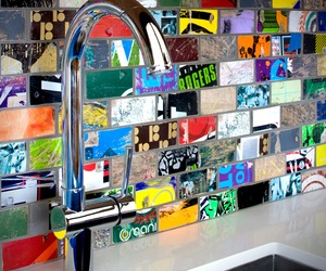 Recycled Mosaic Sk8 Tile by Art Of Board