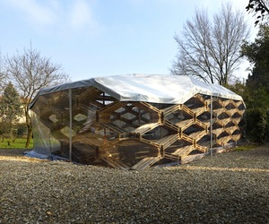 Recycled Pellet Pavilion by Avatar Architettura