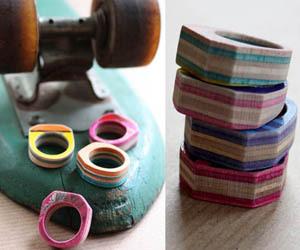 Recycled Skateboard Rings