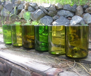 Recycled Wine Bottle Glassware from BottleHood