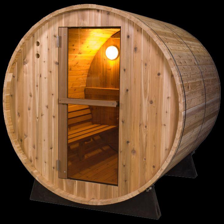 Red cedar wood traditional sauna designs for Sauna designs