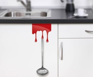 Red Kitchen Tidy Hooks