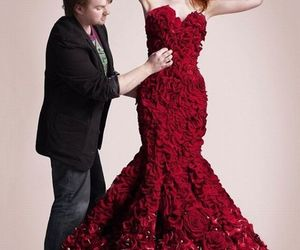 Red Rose Petals Gown for a Rose-scented Valentine's Day