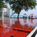 Red Tiled Pool at The Library, Thailand