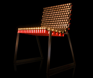 Bulletchair from Spent Shell Casings by Alexander Reh