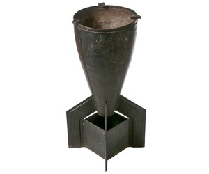 Repurposed Bomb Tailpiece Trench Art Ashtray at Relique