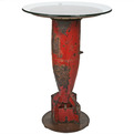 Repurposed Vintage Aerial Bomb Casing Bistro Table