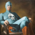 Retired Superhero paintings by Andreas Englund