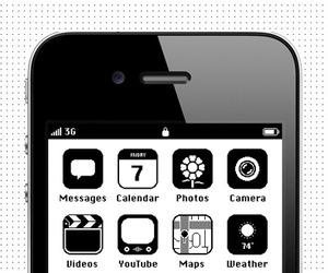 Retro iOS 86 iPhone Skin